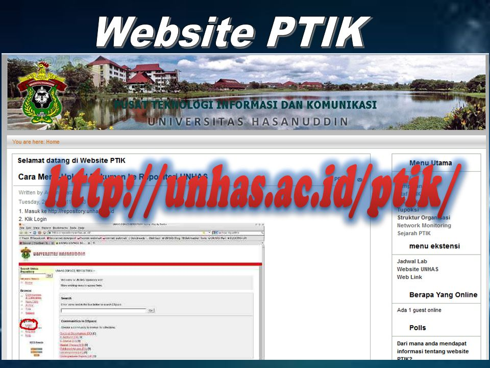 Website PTIK http://unhas.ac.id/ptik/