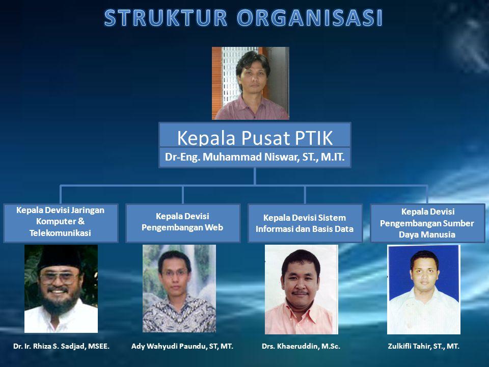STRUKTUR ORGANISASI Kepala Pusat PTIK