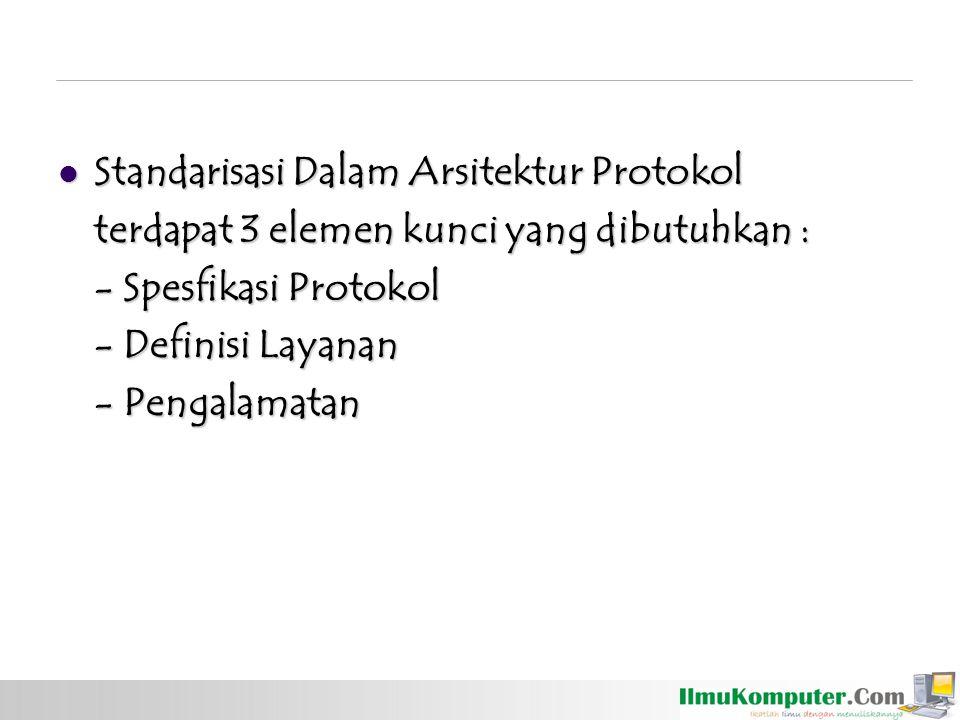 Standarisasi Dalam Arsitektur Protokol