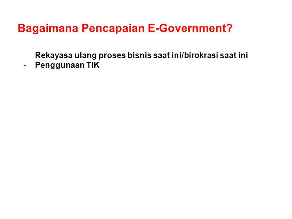 Bagaimana Pencapaian E-Government