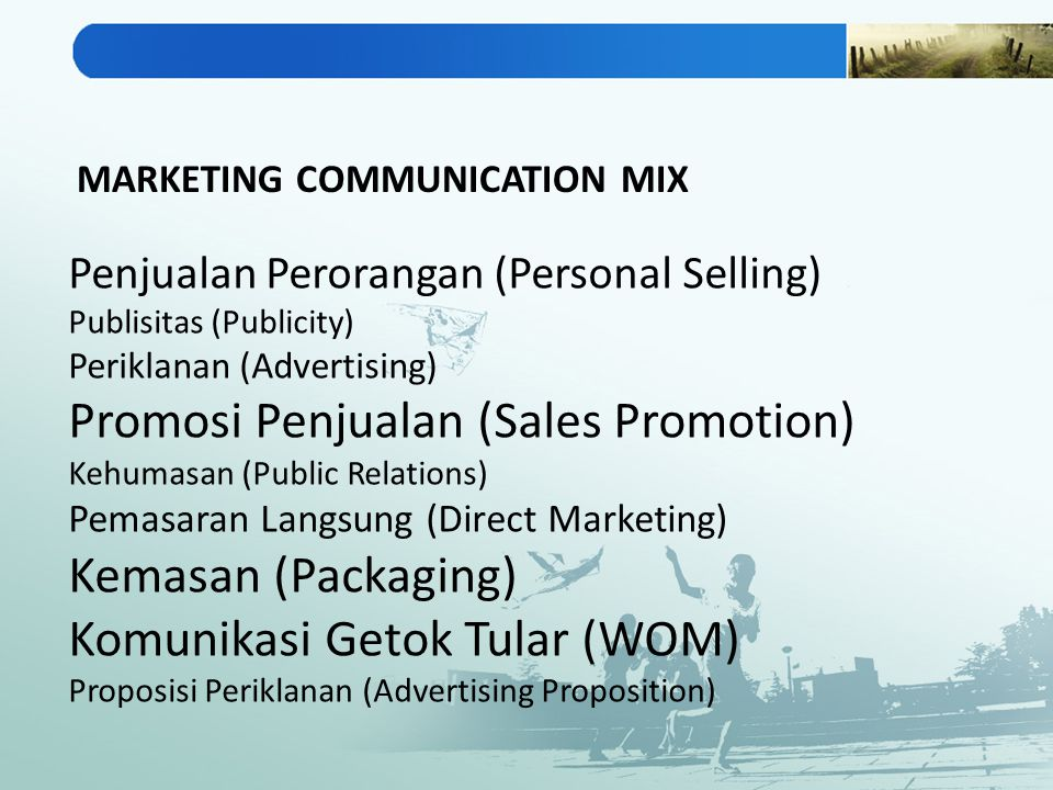 Promosi Penjualan (Sales Promotion) Kemasan (Packaging)