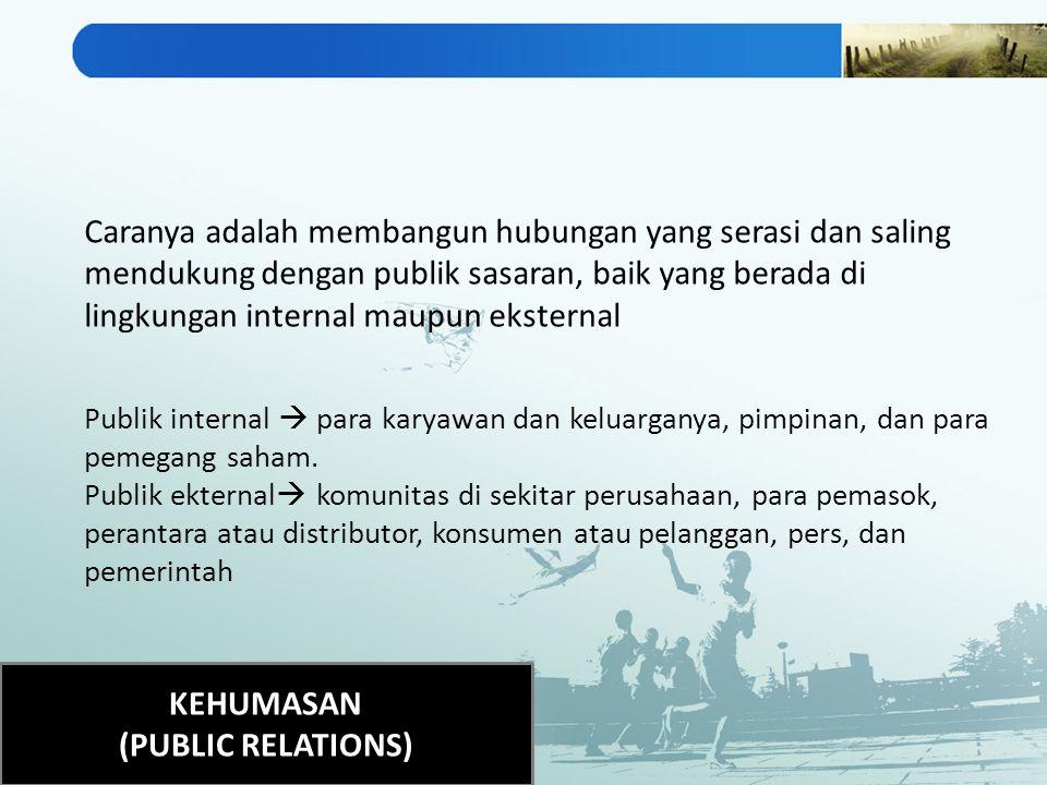 KEHUMASAN (PUBLIC RELATIONS)