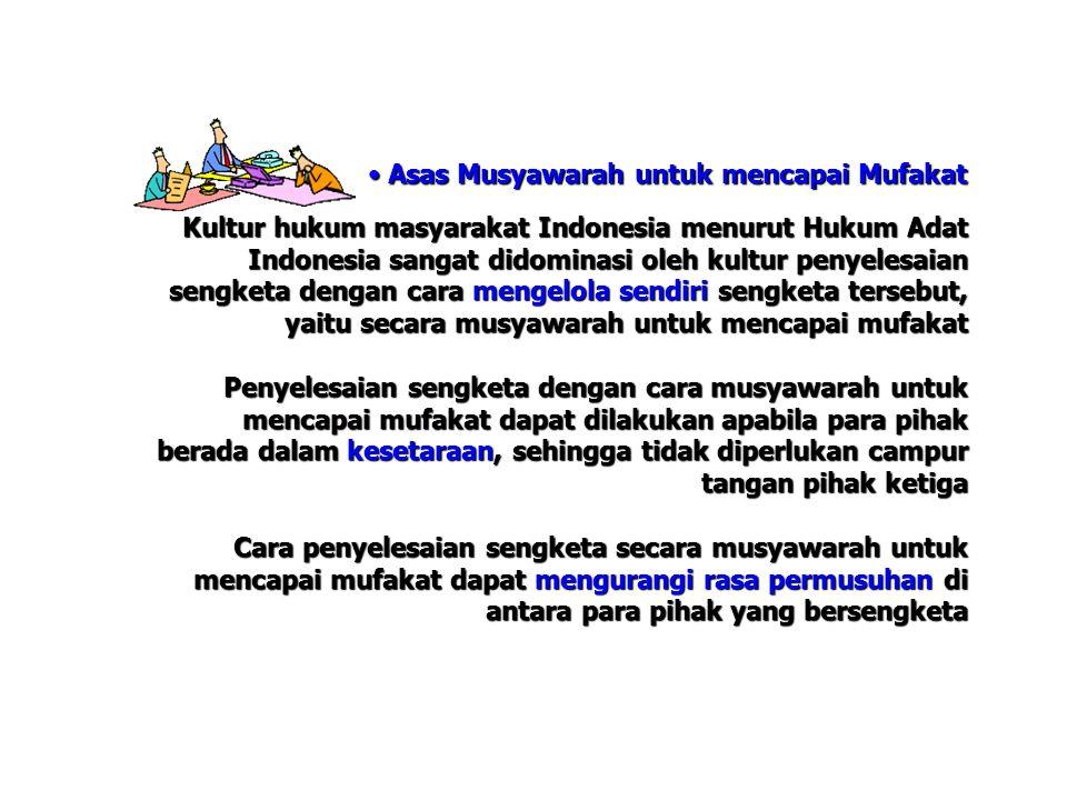 Asas Musyawarah untuk mencapai Mufakat