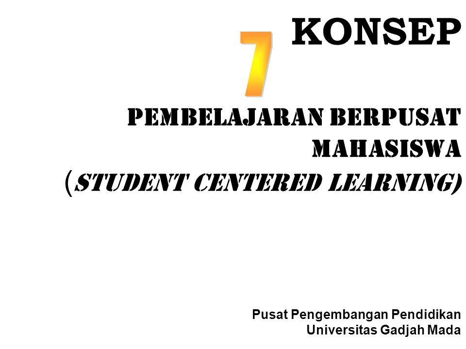 KONSEP Pembelajaran Berpusat Mahasiswa (STUDENT CENTERED LEARNING) Pusat Pengembangan Pendidikan Universitas Gadjah Mada