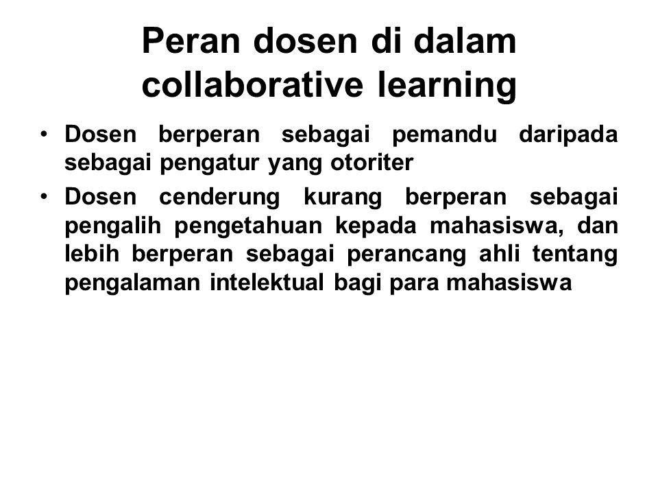 Peran dosen di dalam collaborative learning