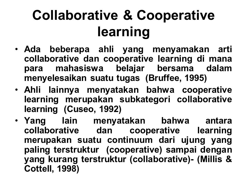 Collaborative & Cooperative learning