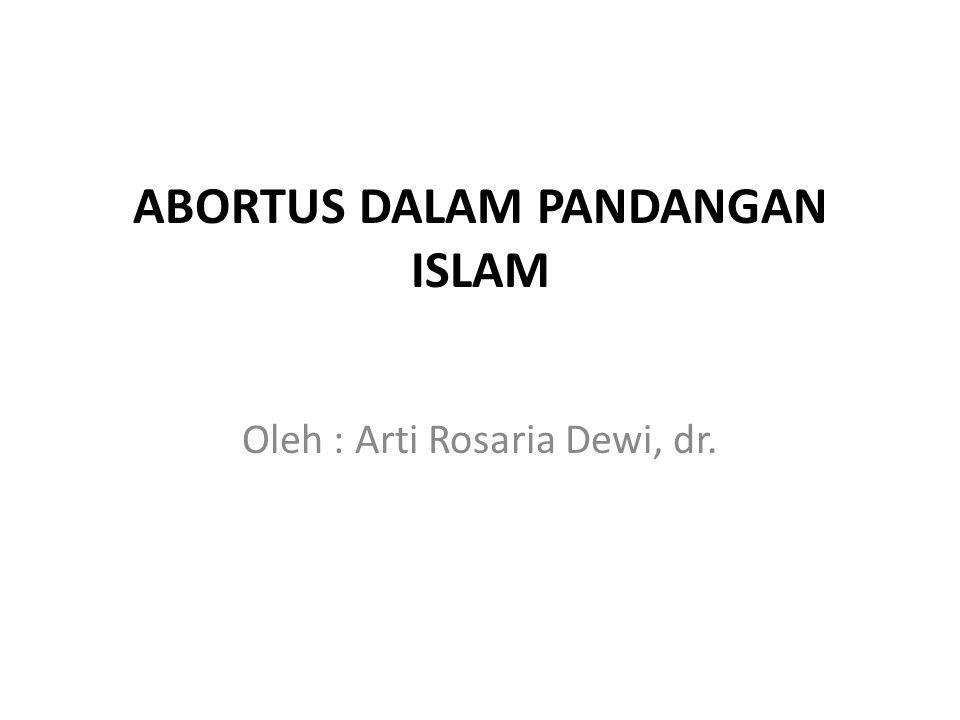 ABORTUS DALAM PANDANGAN ISLAM