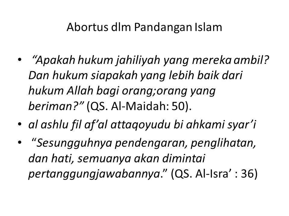Abortus dlm Pandangan Islam