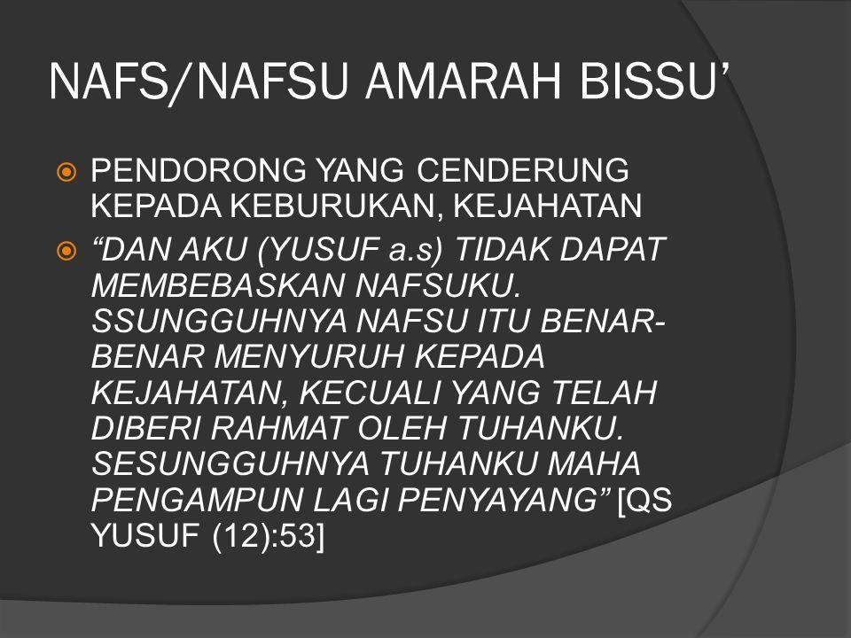 NAFS/NAFSU AMARAH BISSU'
