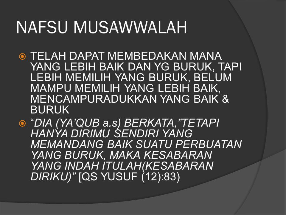 NAFSU MUSAWWALAH