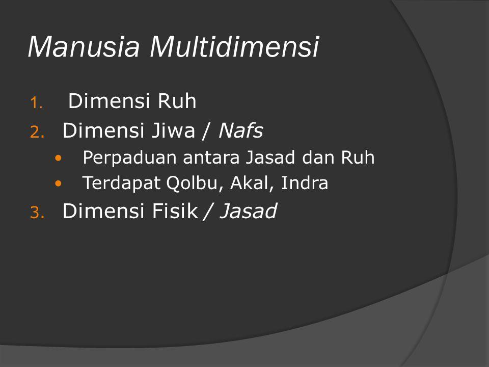 Manusia Multidimensi Dimensi Ruh Dimensi Jiwa / Nafs