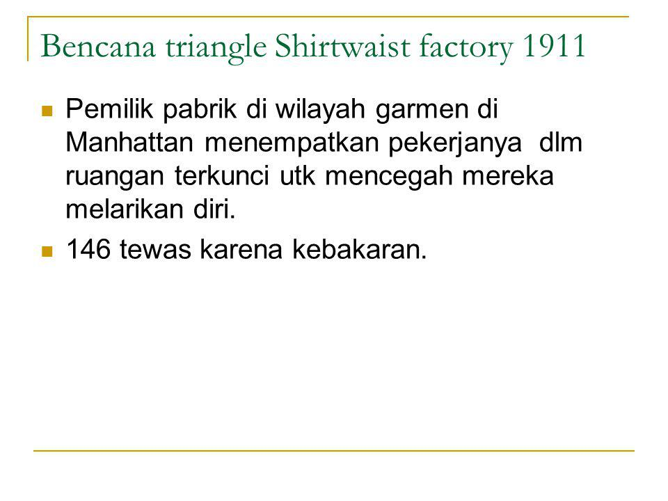 Bencana triangle Shirtwaist factory 1911
