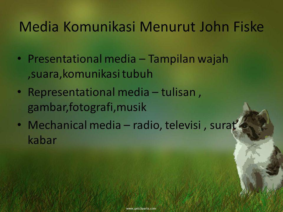 Media Komunikasi Menurut John Fiske