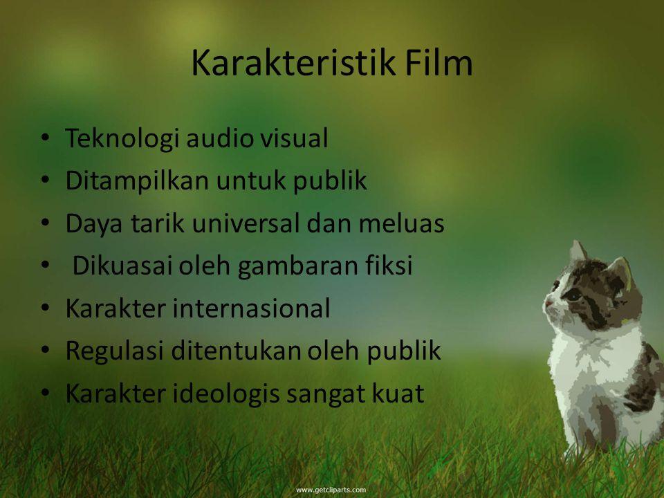 Karakteristik Film Teknologi audio visual Ditampilkan untuk publik