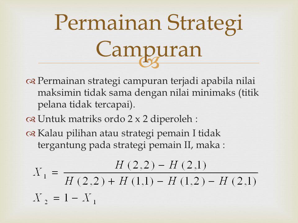 Permainan Strategi Campuran