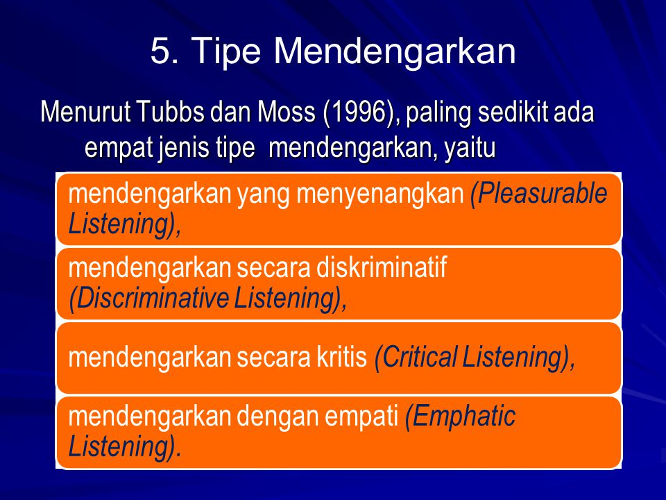 discriminative listening Chapter 8 notes i introduction a listening skill is the first language arts skill learned increased attention to discriminative listening has occurred as a result.