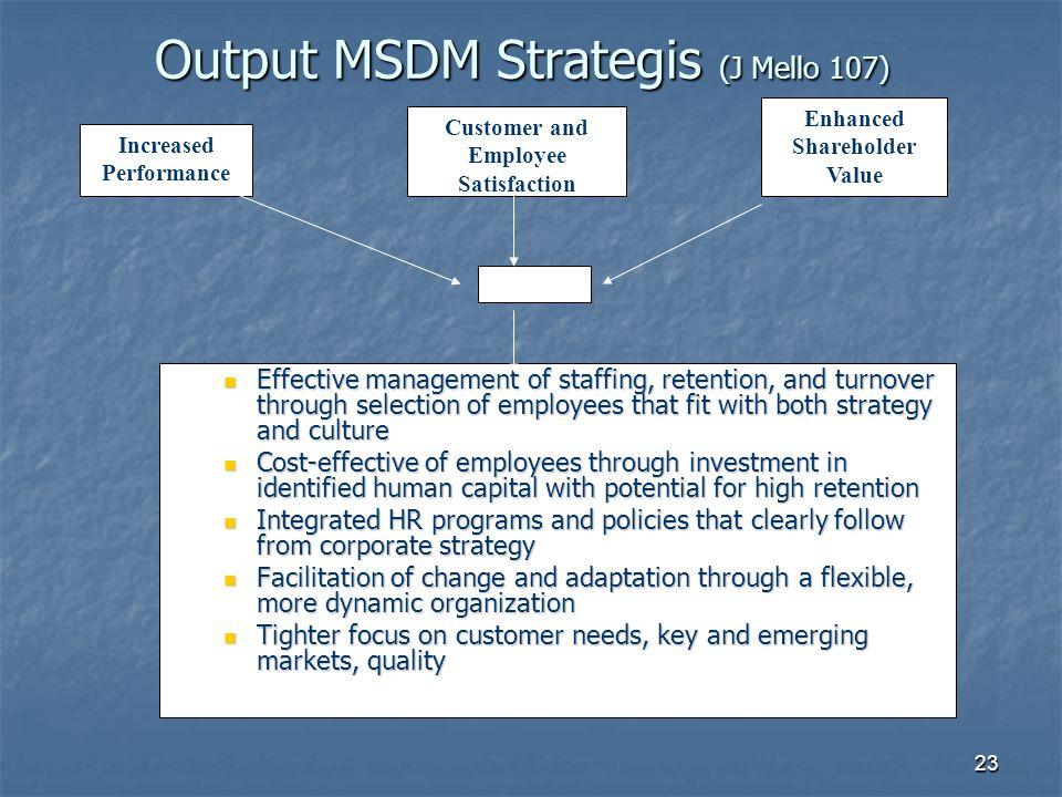 Output MSDM Strategis (J Mello 107)