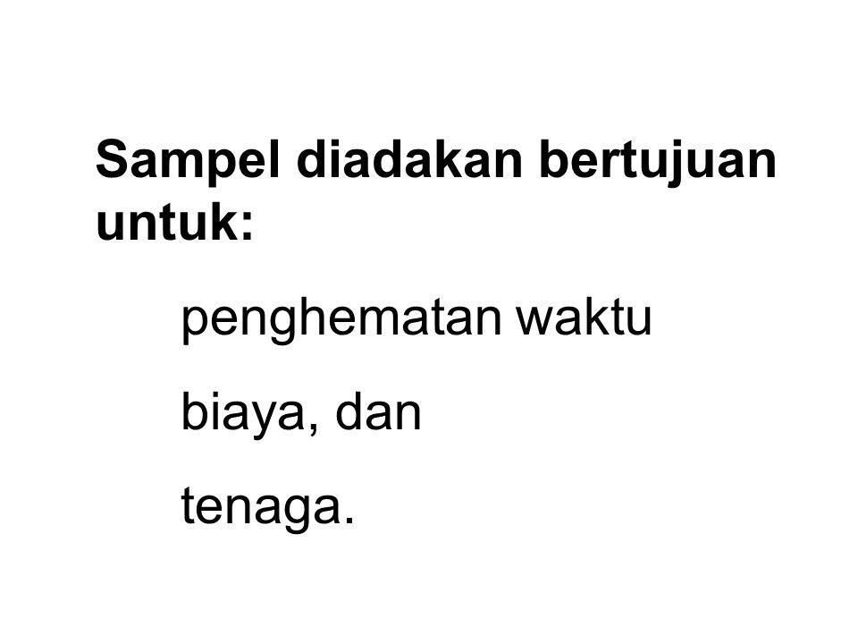 Sampel diadakan bertujuan untuk: