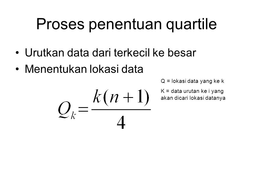 Proses penentuan quartile