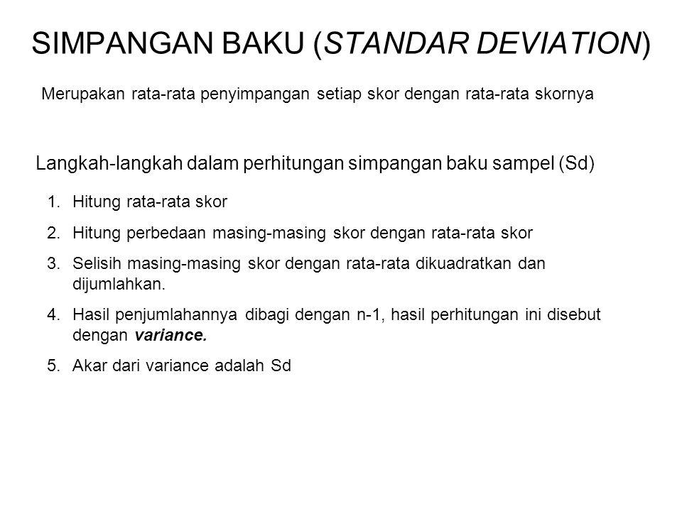 SIMPANGAN BAKU (STANDAR DEVIATION)