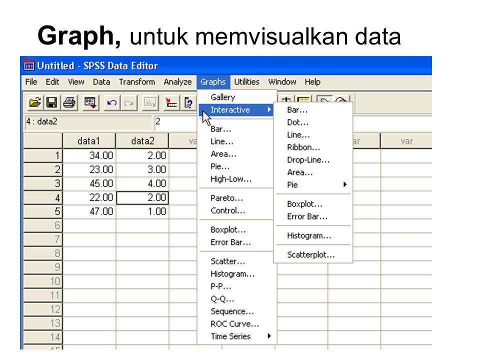 Graph, untuk memvisualkan data