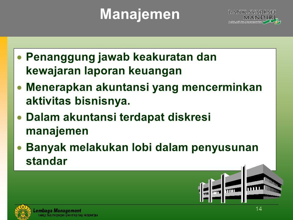 Manajemen Penanggung jawab keakuratan dan kewajaran laporan keuangan