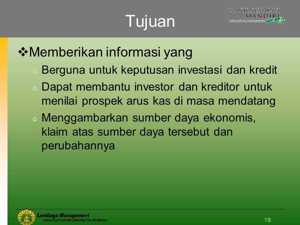 Tujuan Memberikan informasi yang