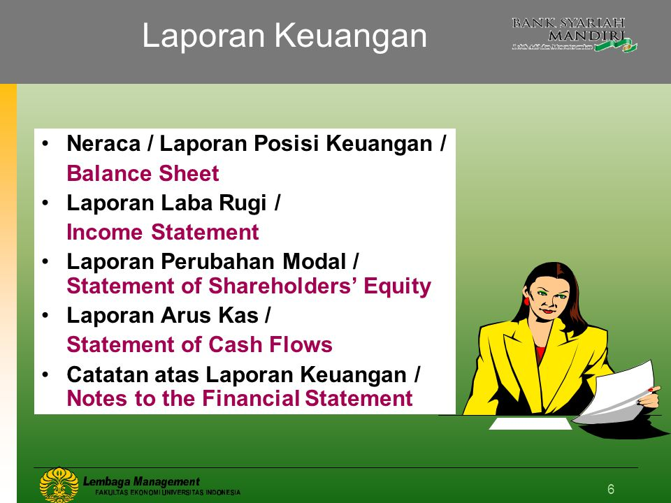 Laporan Keuangan Neraca / Laporan Posisi Keuangan / Balance Sheet