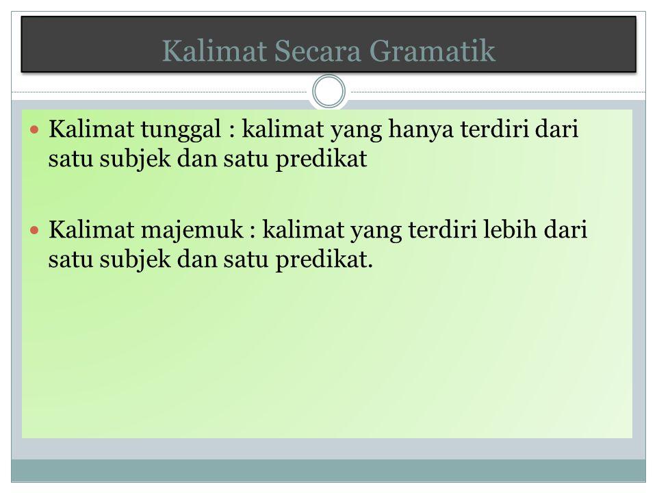 Kalimat Secara Gramatik