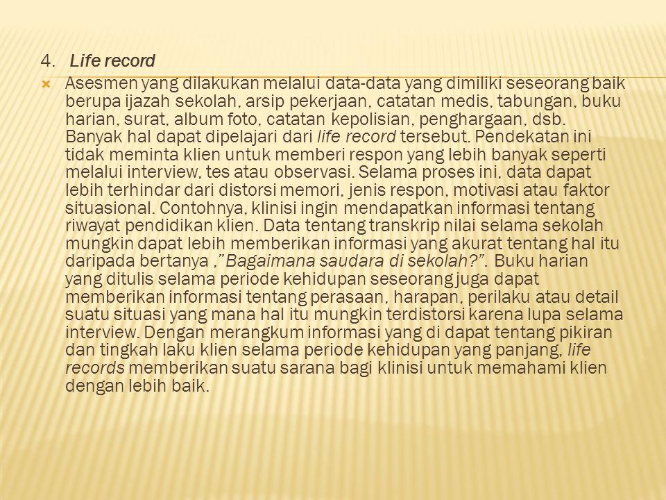 4. Life record