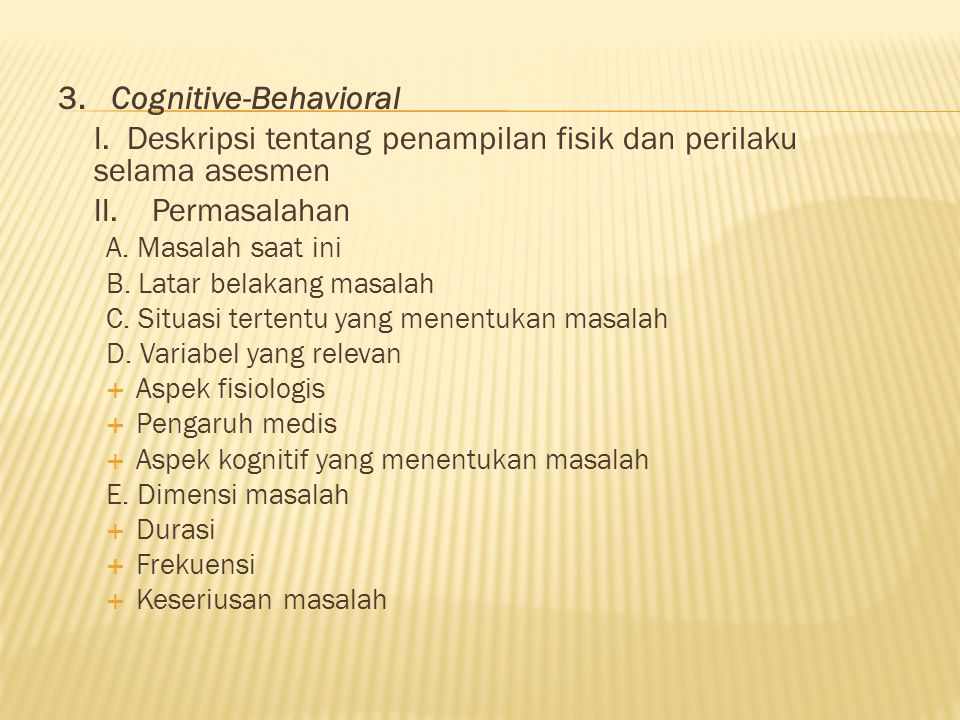 3. Cognitive-Behavioral
