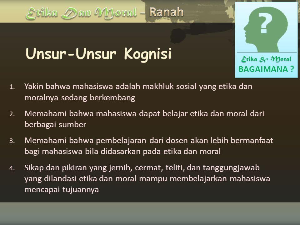 Etika Dan Moral - Ranah Unsur-Unsur Kognisi