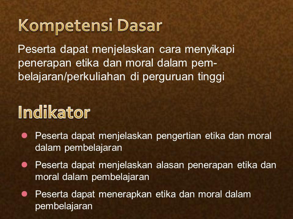 Kompetensi Dasar Indikator