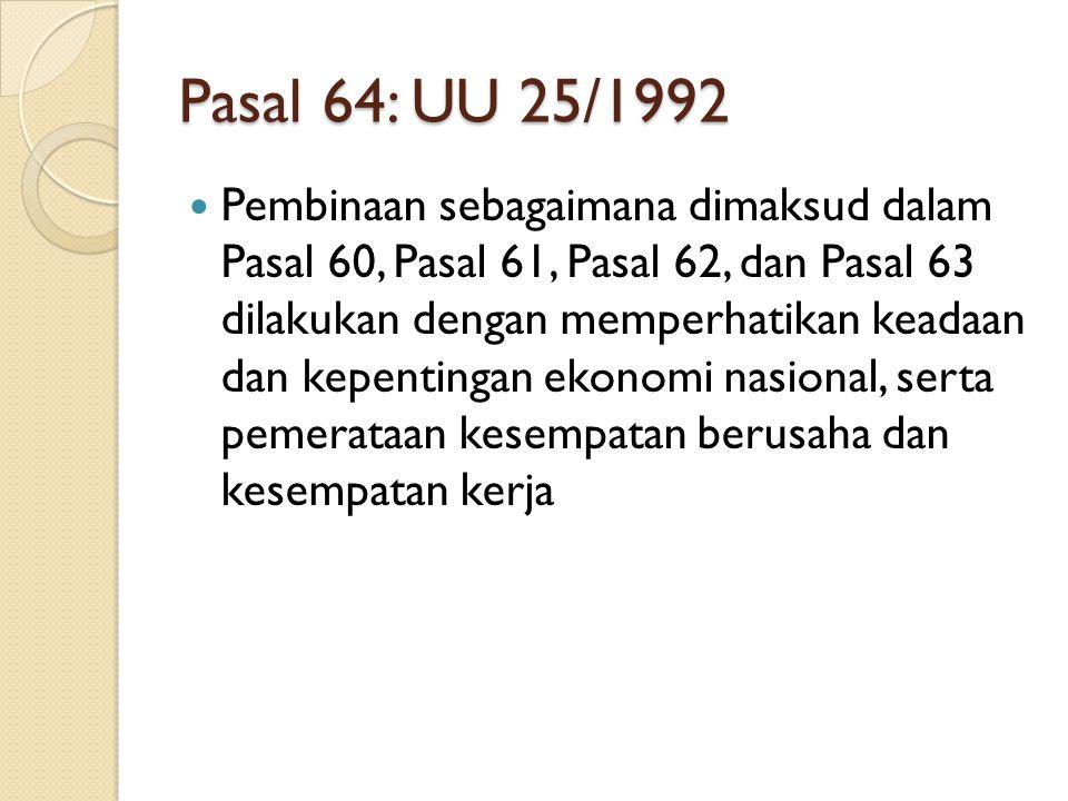 Pasal 64: UU 25/1992