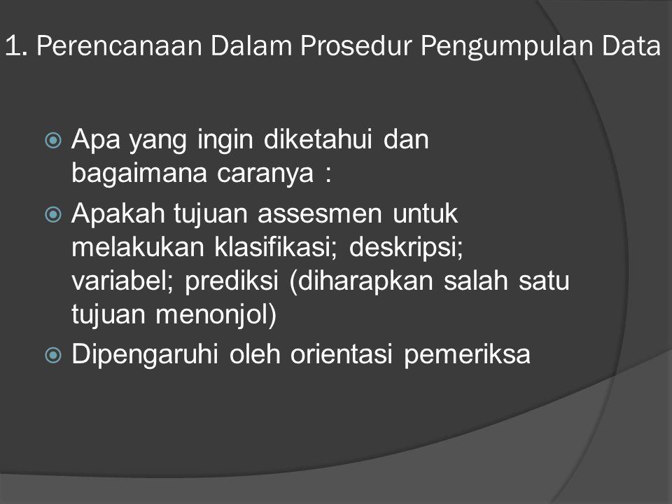 1. Perencanaan Dalam Prosedur Pengumpulan Data