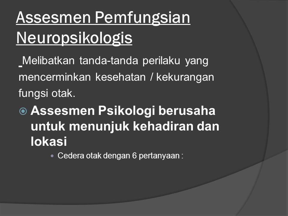 Assesmen Pemfungsian Neuropsikologis