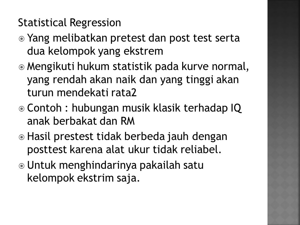 Statistical Regression