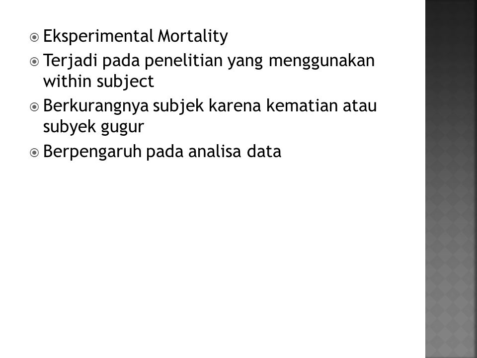 Eksperimental Mortality
