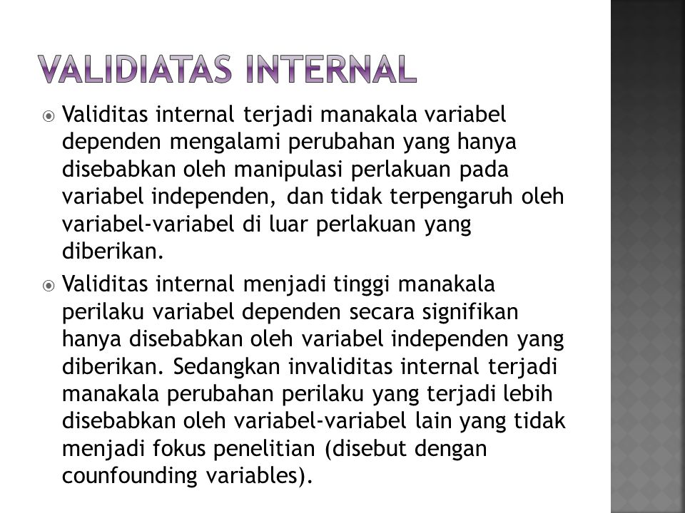 Validiatas Internal
