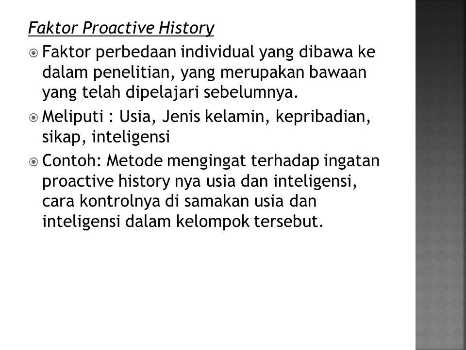 Faktor Proactive History