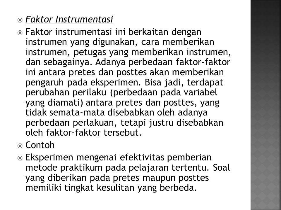 Faktor Instrumentasi