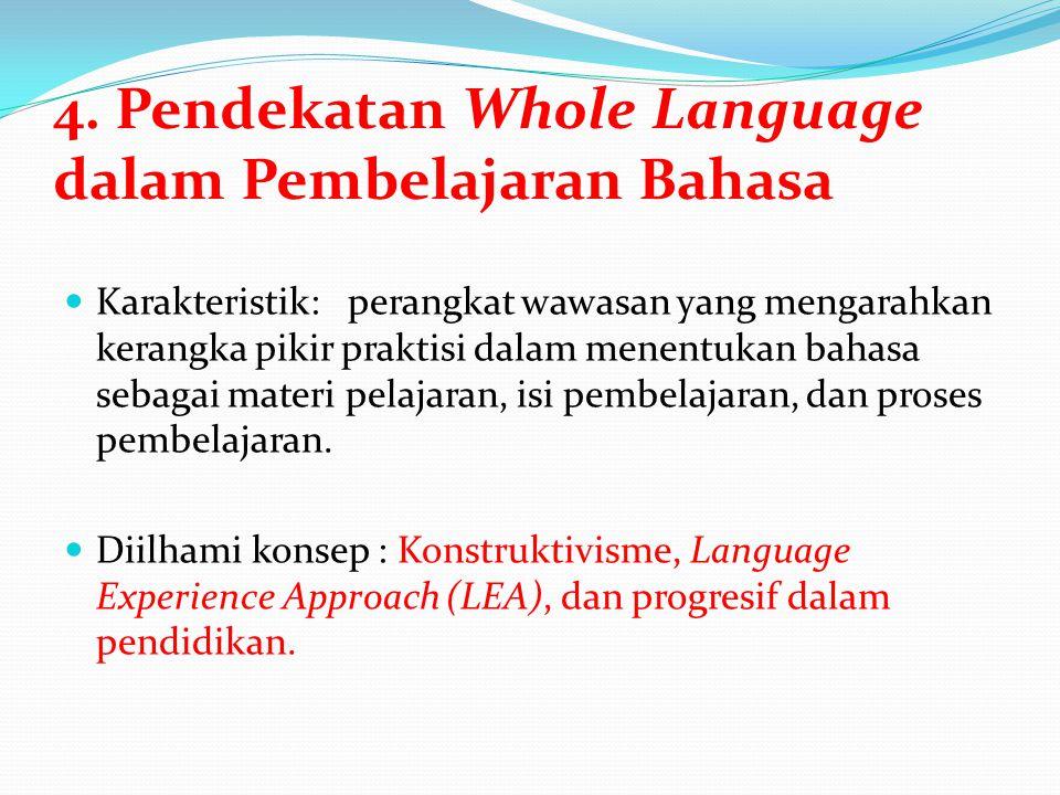 4. Pendekatan Whole Language dalam Pembelajaran Bahasa