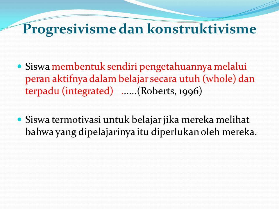 Progresivisme dan konstruktivisme