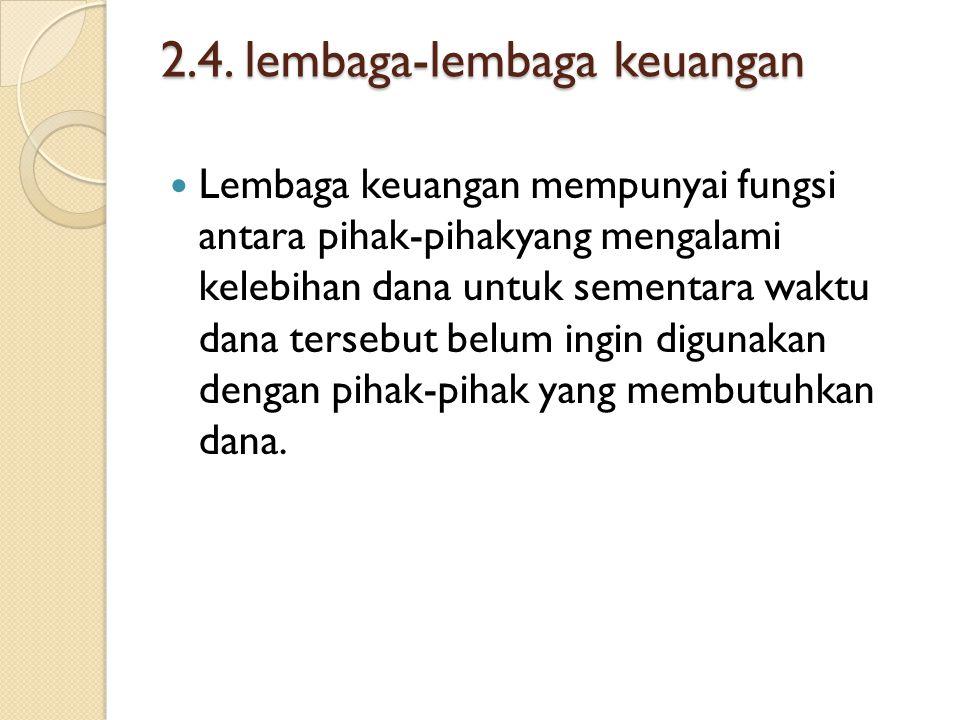 2.4. lembaga-lembaga keuangan