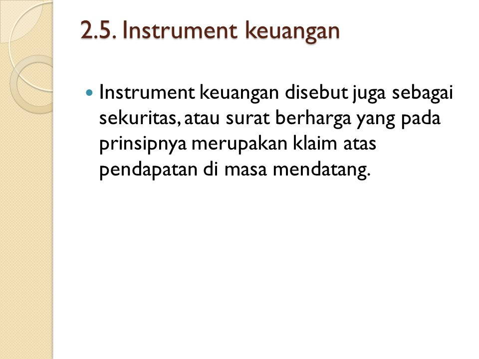 2.5. Instrument keuangan