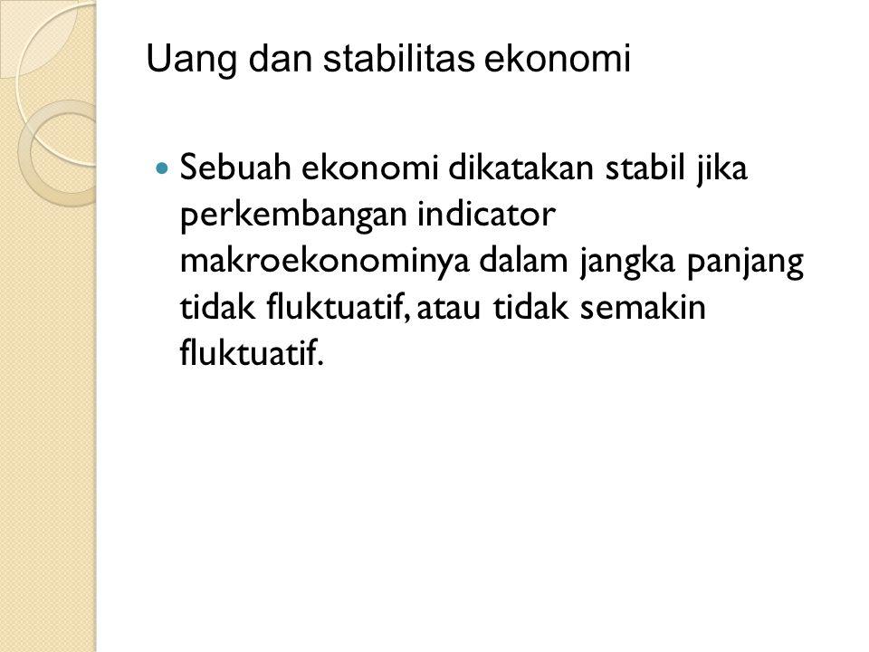 Uang dan stabilitas ekonomi