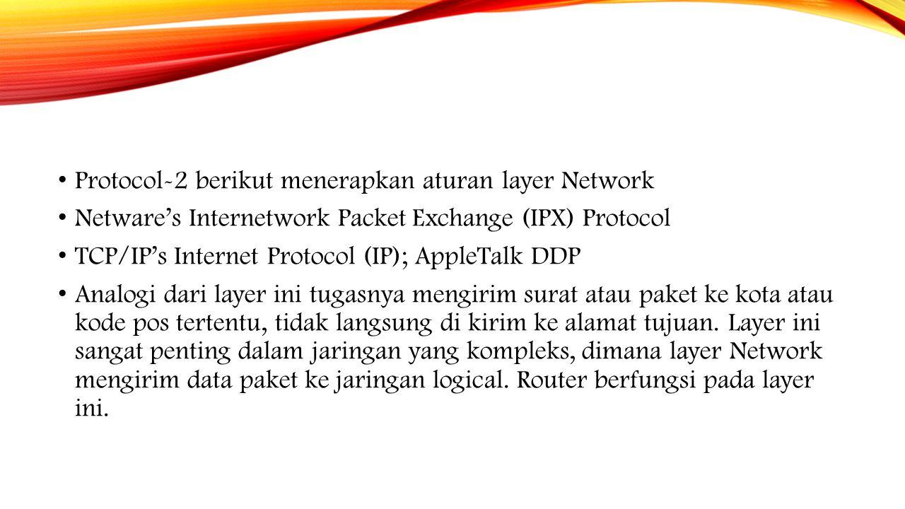 Protocol-2 berikut menerapkan aturan layer Network