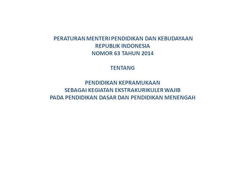 PERATURAN MENTERI PENDIDIKAN DAN KEBUDAYAAN REPUBLIK INDONESIA