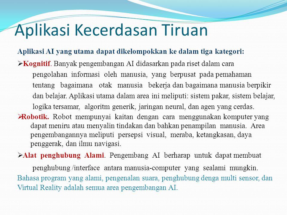 Aplikasi Kecerdasan Tiruan