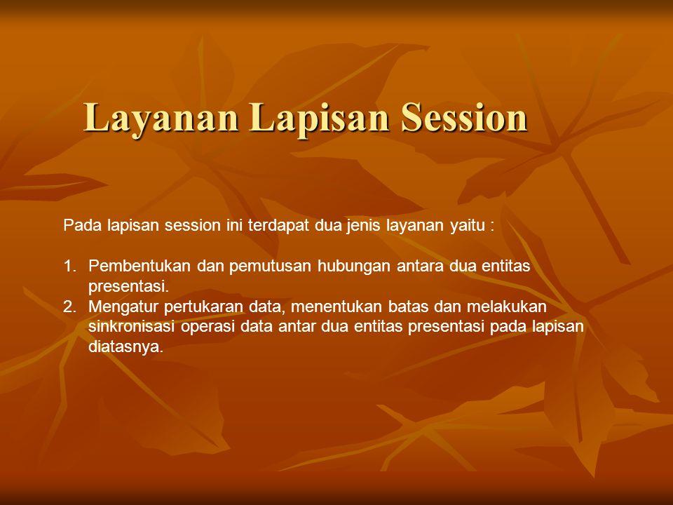 Layanan Lapisan Session